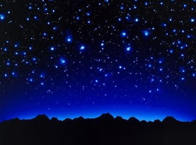 Um céu estrelado. A Astronomia minha maior Paixão