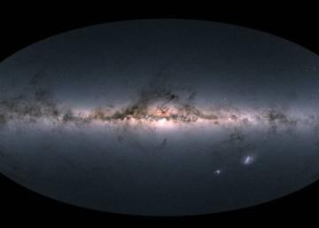 Foto esquema de uma galáxia. O universo é finito?