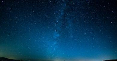 Foto do Céu estrelado. A Cosmologia e a Astronomia.