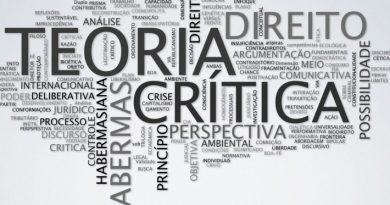 Nuvem de palavras com a Teoria Crítica em foco.