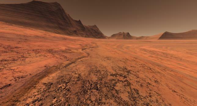 Simulação da Superfície do Planeta Marte. Férias em Marte?