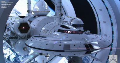 Uma Nava Espacial de Ficção