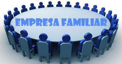 Símbolo de representação de pessoas em bonequinhos ao redor de uma mesa com a Inscrição Empresa familiar.