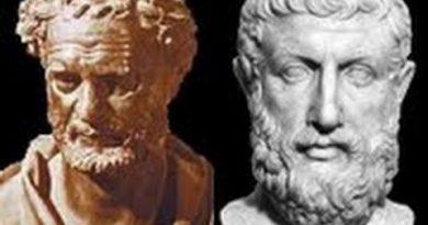 Busto de Parmênides e Heráclito