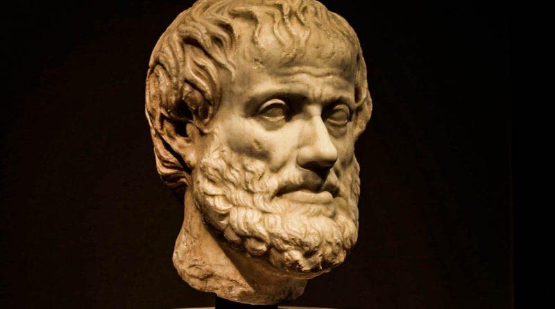 Busto do Filósofo Aristóteles. Obras e doutrinas; de Aristóteles – uma introdução