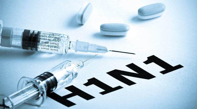 seringas e letras H1N1. Gripe Suína, ou Influenza A (H1N1)