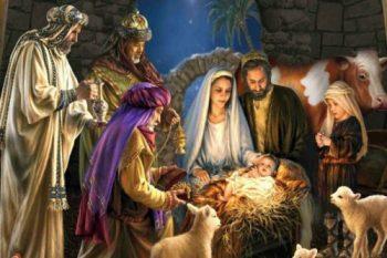 Desenho do presépio com Maria, José e os reis magos. O que é Natal? Qual a Origem do Natal?