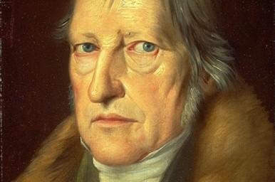 Pintura do rosto de Hegel. O idealismo Lógico.
