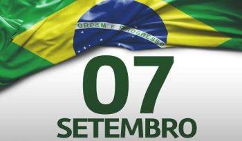 Bandeira do Brasil com a data da Independência. O Brasil é independente? Qual a importância do dia 7 de Setembro?