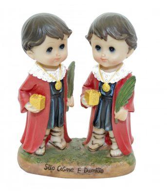 pequena imagem duas crianças Cosme e Damião.