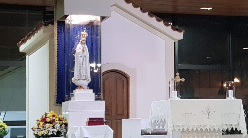 Imagem de Nossa Senhora de Fátima no Santuário do Recreio dos Bandeirantes