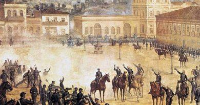 Quadro da proclamação da República no Brasil. República, uma Forma de Governo, no Brasil desde 15 de Novembro de 1889