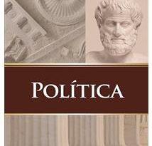 Capa de um livro de Aristóteles.Fragmentos do Livro Política de Aristóteles