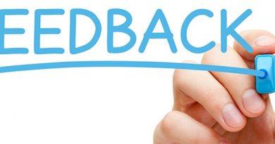 A Palavra Feedback escrita. O Feedback na Empresa e em Nossa Vida Pessoal