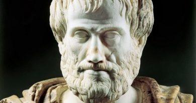 Busto de Aristóteles. A Física e a Astronomia de Aristóteles.