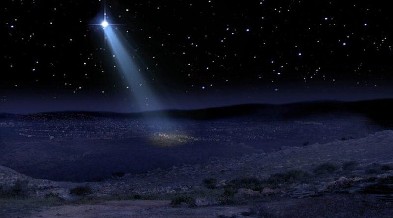 É Natal e aparece a Estrela de Belém