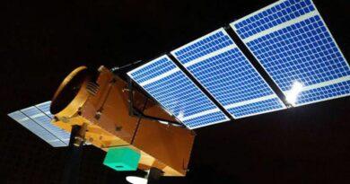 Ilustração do primeiro satélite produzido totalmente pelo Brasil. Satélite brasileiro Amazônia 1